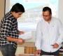 Rafael Ruíz (a la derecha), despejó dudas y ofreció un trabajo colaborativo con los asistentes en materias de seguridad laboral.